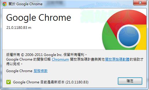 Chrome v21.0.1180.83m
