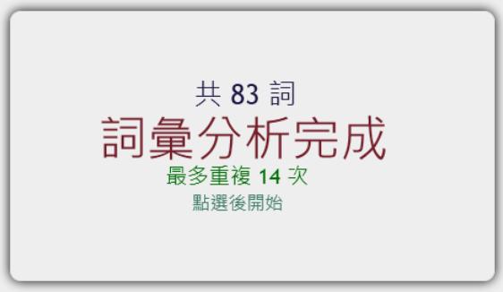 HTML5 文字雲產生器,輸入網址、上傳檔案即可產生出現最多次的字詞(支援各大社群網站)-04