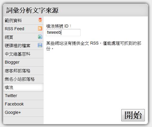 HTML5 文字雲產生器,輸入網址、上傳檔案即可產生出現最多次的字詞(支援各大社群網站)-06