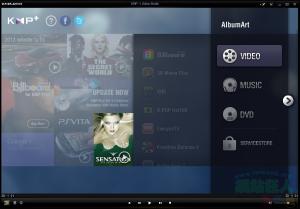 Windows中的萬能播放器KMPlayer,介面簡單、操作人性化