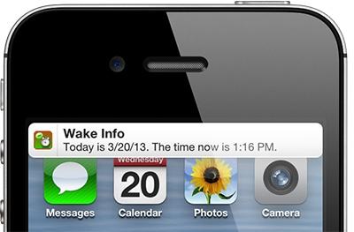 [iOS] Wake Info起床後自動說出今日行程、天氣狀況、未接來電、簡訊、電池電量